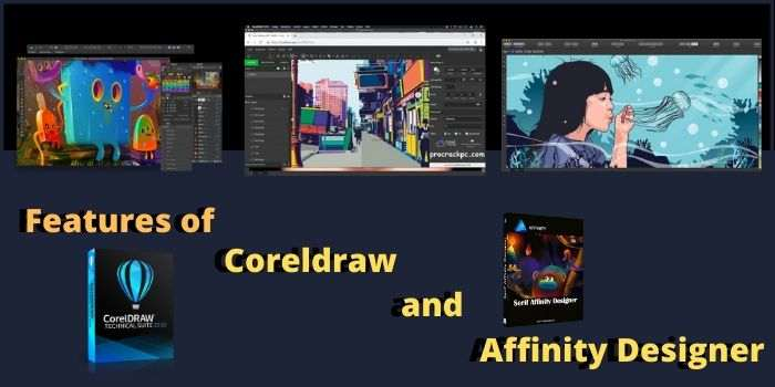 Features of Coreldraw and Affinity Designer