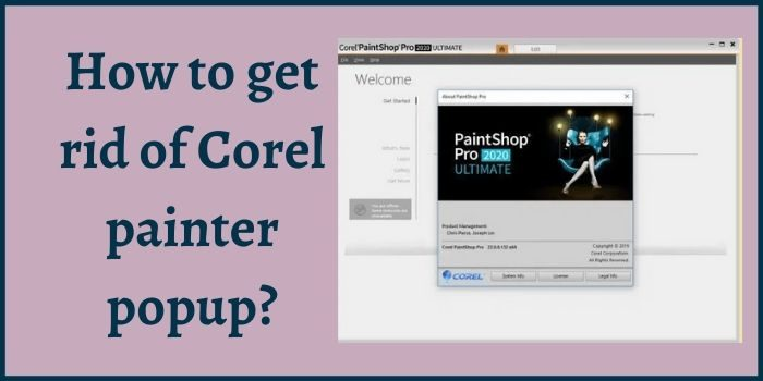 How to Get Rid of Corel Painter Popup?