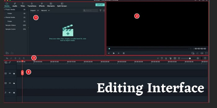 Filmora9 Editing Interface