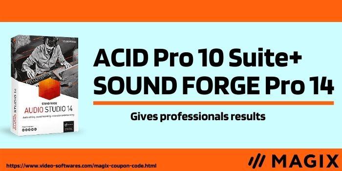 ACID Pro 10 Suite+ SOUND FORGE Pro 14