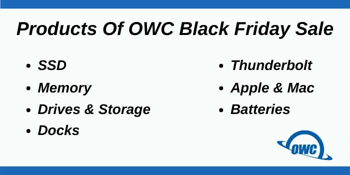 OWC Black Friday Deals - MAcSales OWC Products