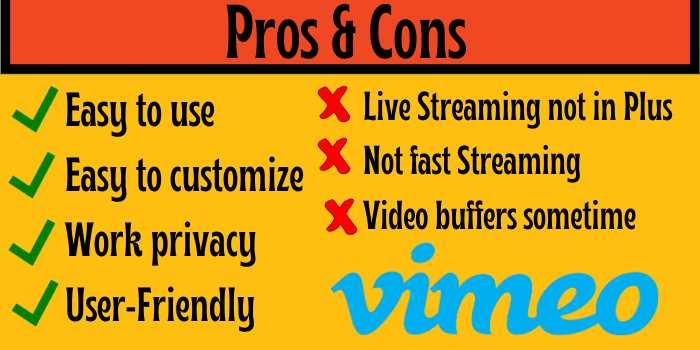 Vimeo Pros & Cons