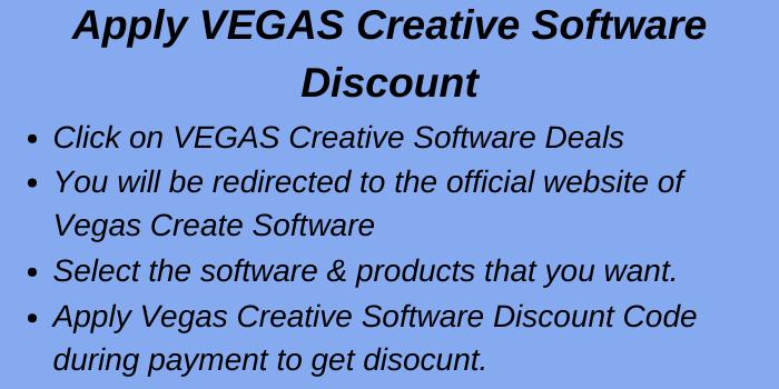 Apply Vegas Creative Software Discount Code