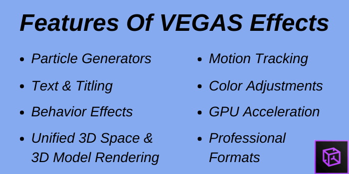 Features of Vegas Effects