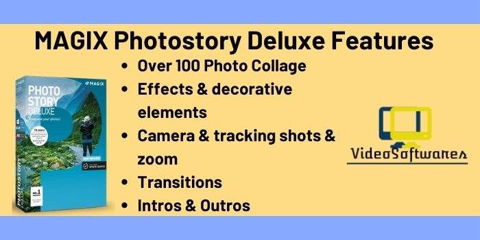 MAGIX Photostory Deluxe Features