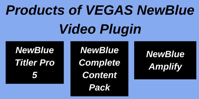 Products of Vegas NewBlue Video Plugin