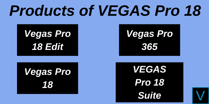 Products of Vegas Pro 18