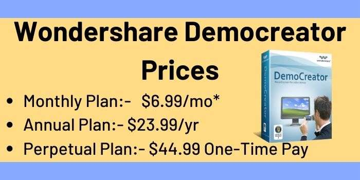 Wondershare Democreator Prices