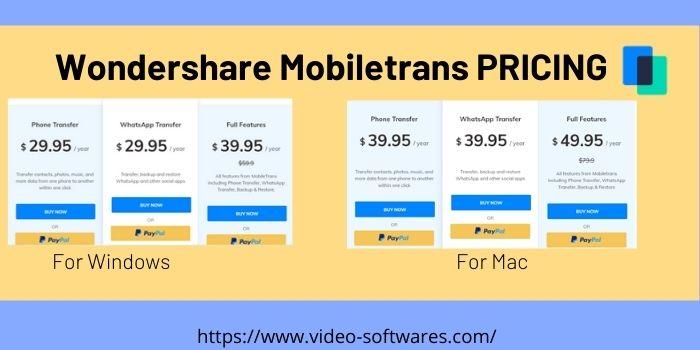 Wondershare Mobile Trans Pricing