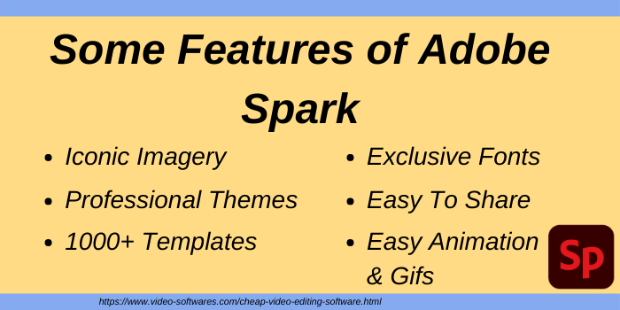 Features of Adobe Spark