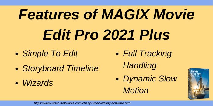 Features of MAGIX Movie Edit Pro 2021 Plus
