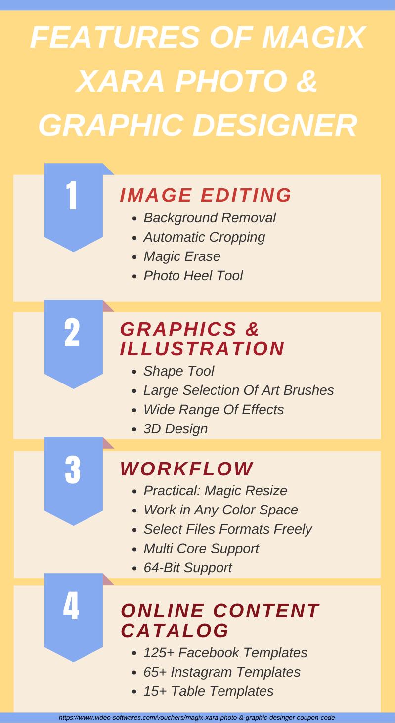 Features of Magix Xara Photo & Graphics Designer