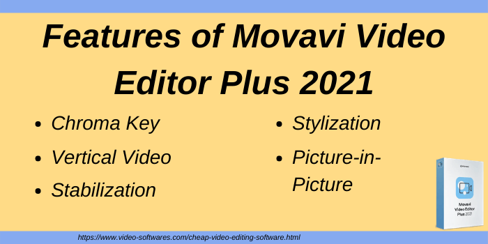 Features of Movavi Video Editor Plus 2021