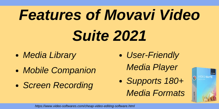 Features of Movavi Video Suite 2021