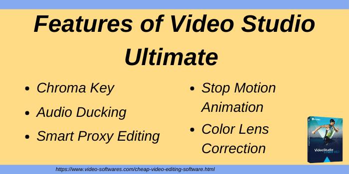 Features of Video Studio Ultimate
