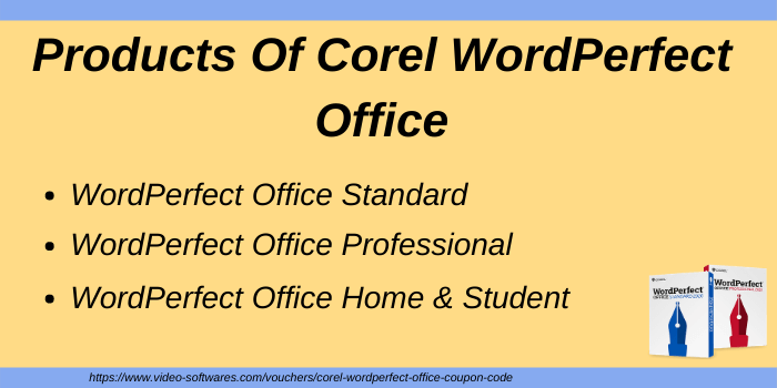 Products of Corel WordPerfect Office
