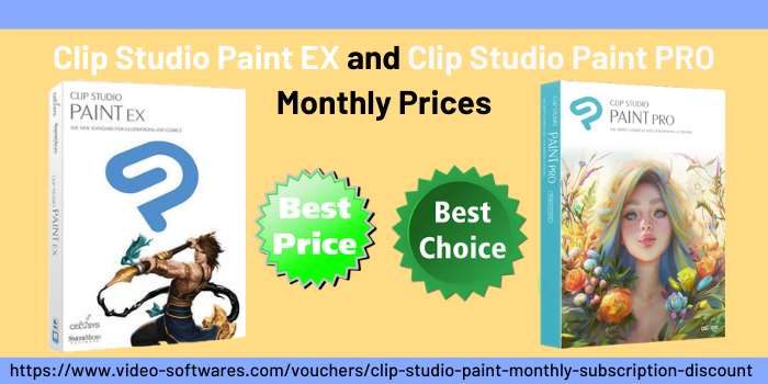 Clip studio paint Ex and pro monthly prices