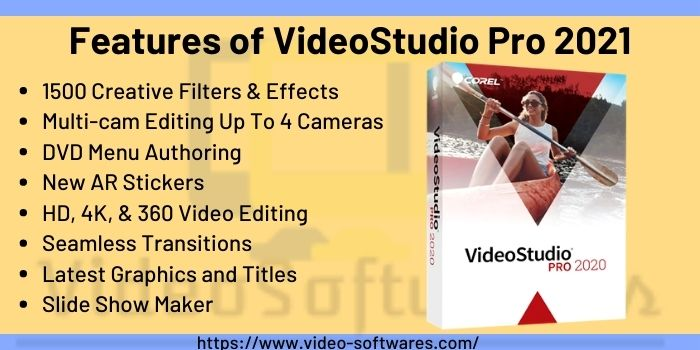 Features Of VideoStudio Pro 2021