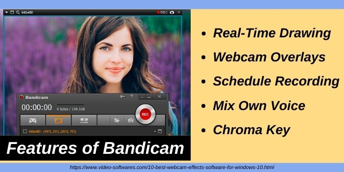 Features of Bandicam