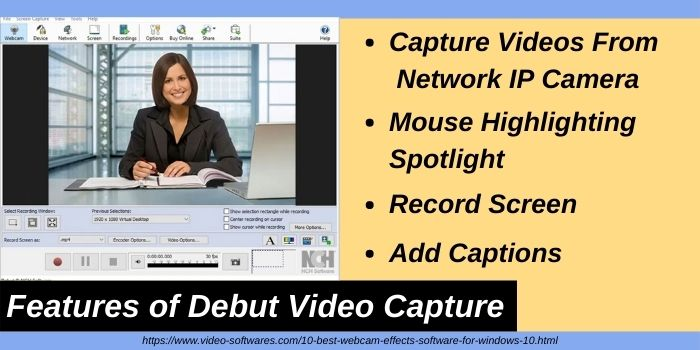 Features of Debut Video Capture