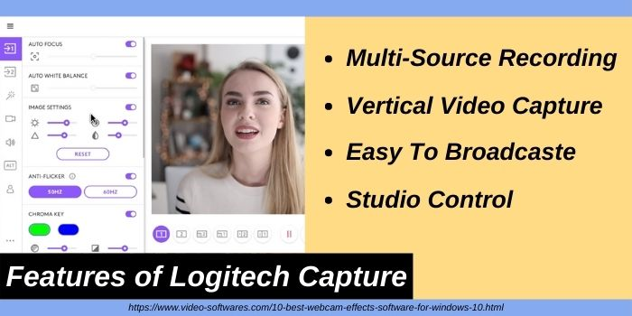 Features of Logitech Capture Software for Windows 10