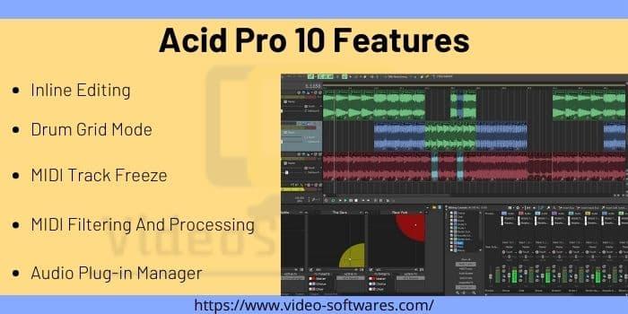 Acid Pro 10 Features