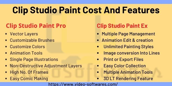 Clip Studio Paint Cost And Features