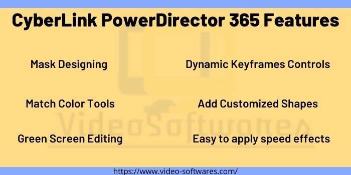 CyberLink PowerDirector 365 Features