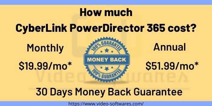CyberLink PowerDirector 365 Prices
