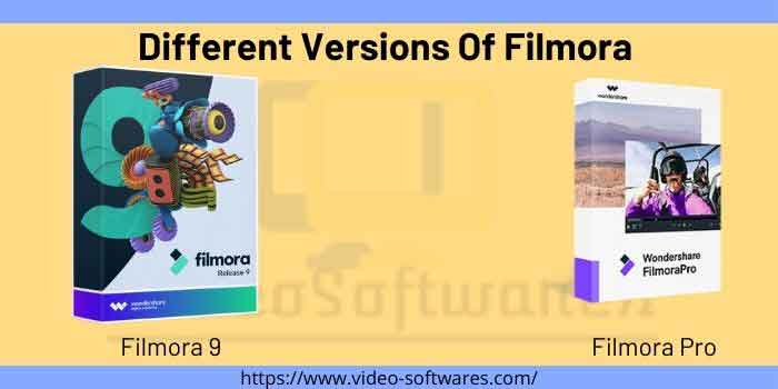 Different Versions Of Filmora