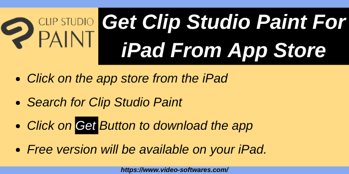 Get Clip Studio Paint On iPad