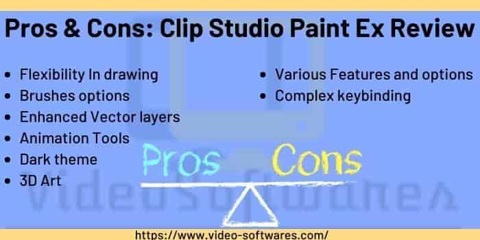Pros & Cons of Clip Studio Paint Ex
