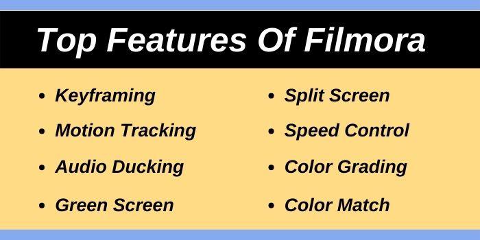 Top Features Of Filmora