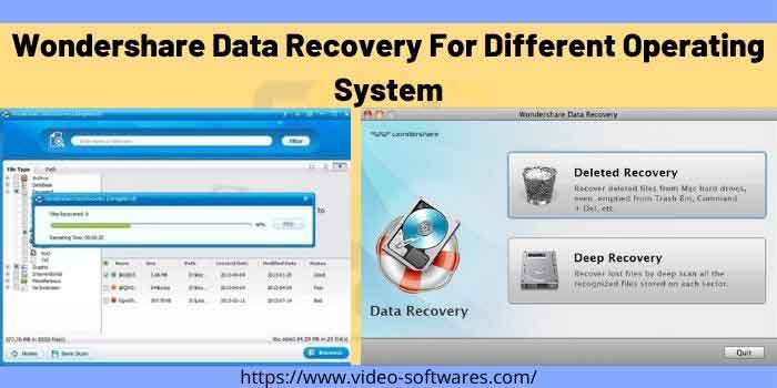 Wondershare Data Recovery For Different Operating System