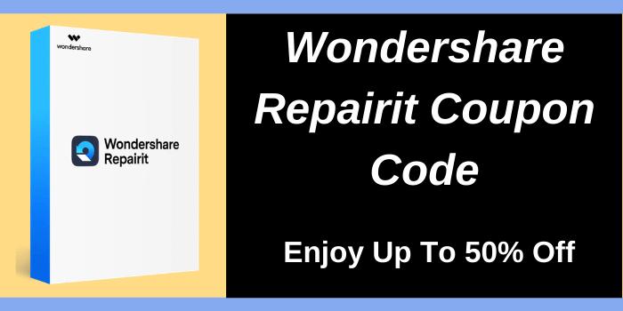 Wondershare Repairit coupon code