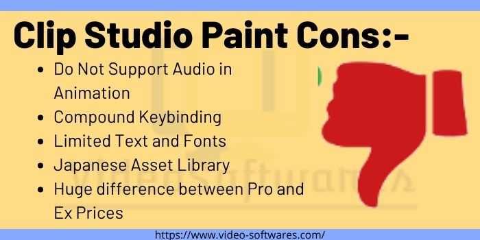 Clip Studio Paint Cons