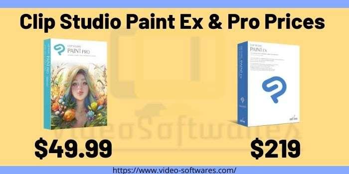 Clip Studio Paint Ex and Pro Prices