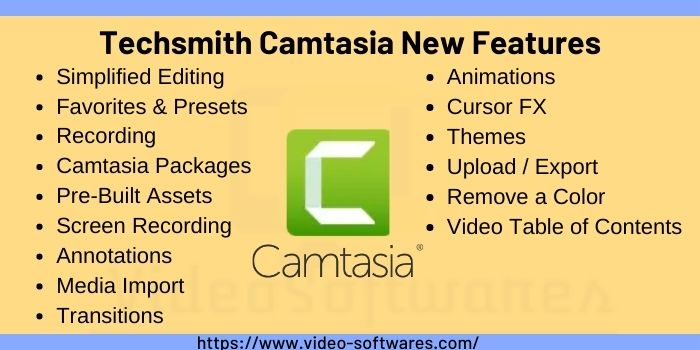 Techsmith Camtasia 2021 New Features